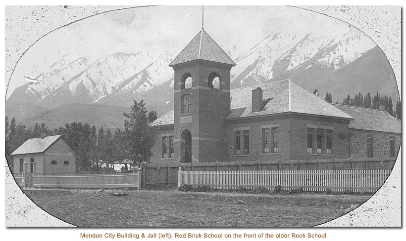 Mendon City Building & Jail and the 1899 Red Brick School