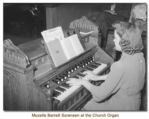 Mozelle Barrett Sorensen at the Church Organ