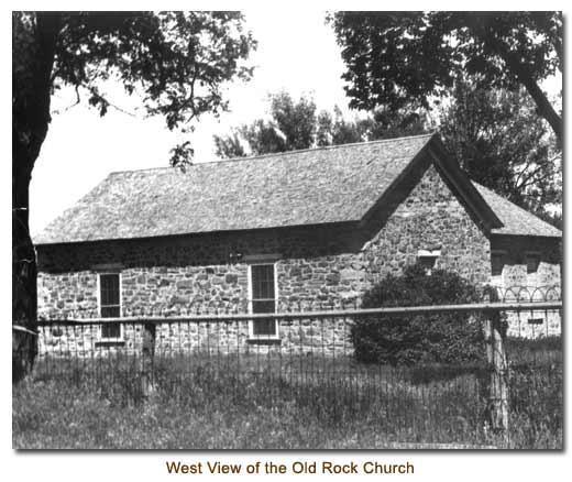 West View of the Old Rock Church