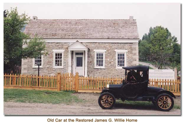Old Car at the Restored James G. Willie Home