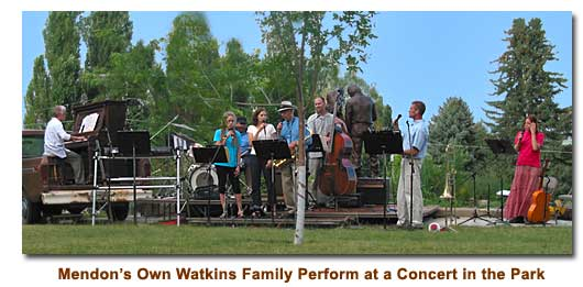 Watkins Family perform during a Concert in the Park