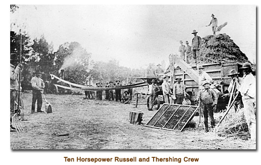 Ten Horsepower Russell and Seperator, with thresher crew.