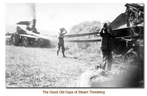 The Good Old Days of Steam Bundle Threshing