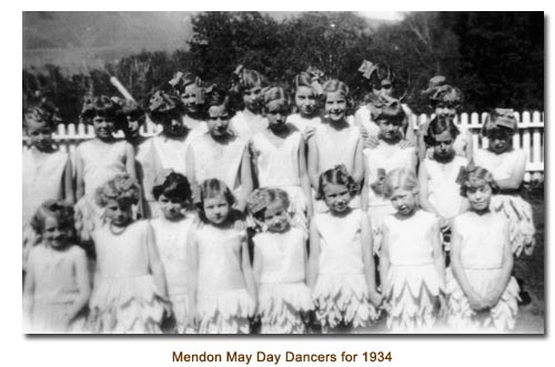 Mendon May Day Dancers for 1934.