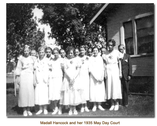 Madall Hancock and her 1935 May Day Court.
