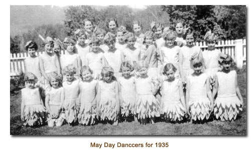 Mendon May Day Dancers for 1935.