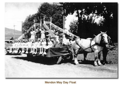 Mendon May Day Float.