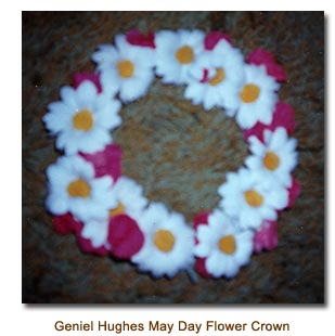 1945 May Day Flower Crown