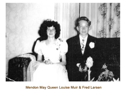 Mendon May Queen Louise Muir and her Consort, Fred Larsen.