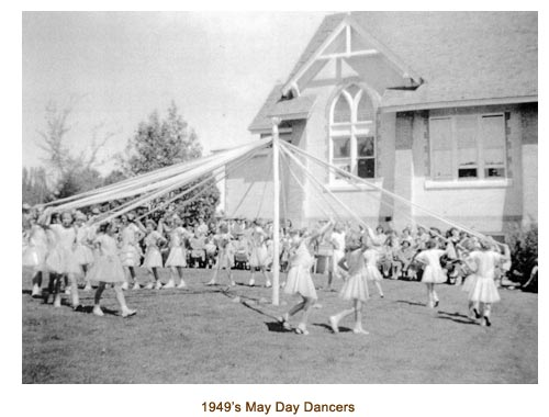 1949's Mendon May Day Dancers.