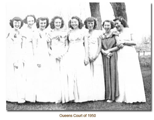 Mendon May Day Court, 1950.