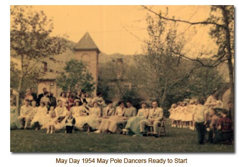 1954 May Day Dancers Ready to Go.