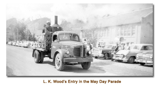 L. K. Wood's entry in the 1956 Mendon May Day Parade.