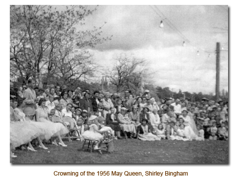 Crowning of the 1956 Mendon May Day Queen, Shirley Bingham