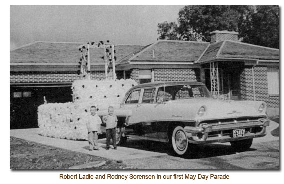 Robert Ladle & Rodney Sorensen in their first May Day Parade.