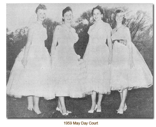 Mendon May Day 1959 Queen's Court