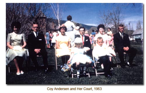 Coy Andersen and her May Day Court.