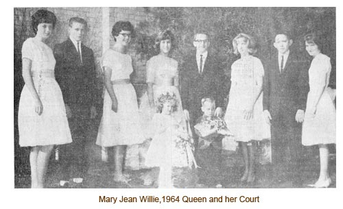 Mary Jean Willie and her May Day Court.