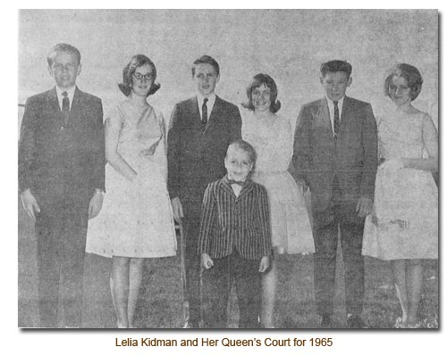 Lelia Kidman and her 1965 May Day Court.