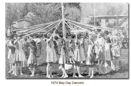 1974 May Day Dancers.