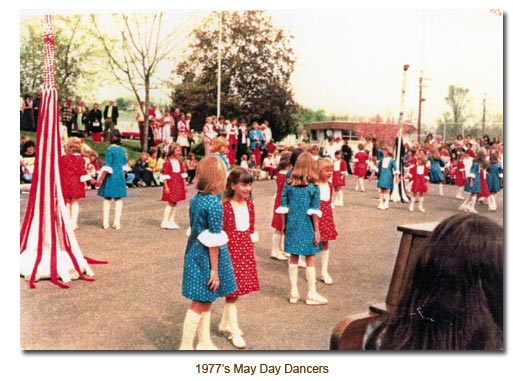 Mendon May Day Dancers for 1977.