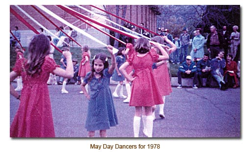 Mendon May Day Dancers for 1978.