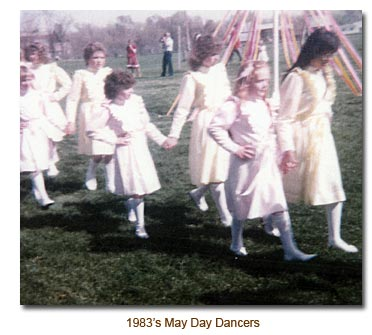 Mendon May Day Danccers for 1983.