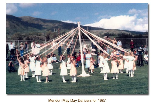 Mendon May Day Dancers for 1987.