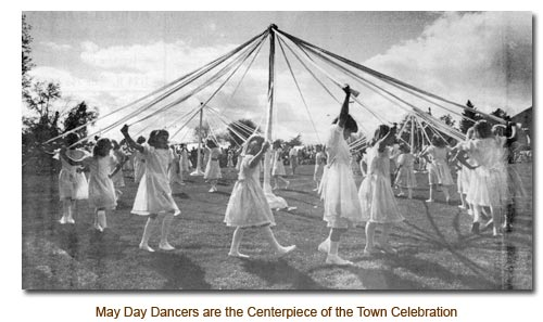 Mendoon May Day Dancers are the Centerpiece of the Town Celebration.