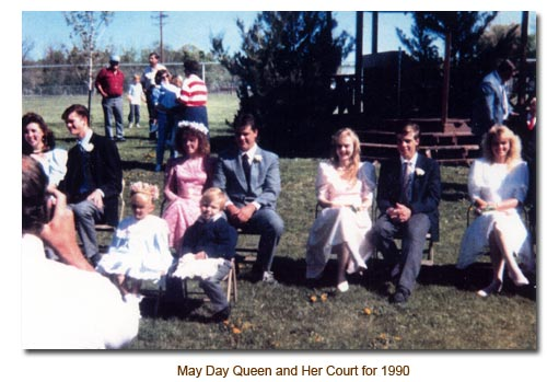 1990's May Queen and Her Court