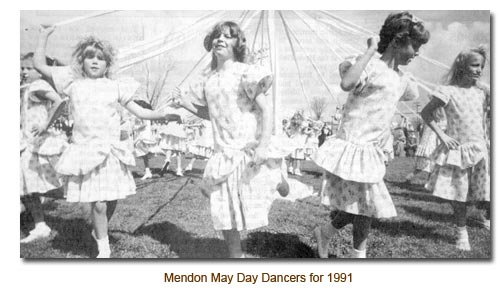 Mendon May Day Dancers for 1991.