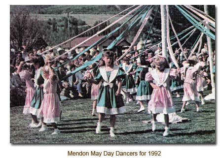 Mendon May Day Dancers for 1992.