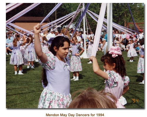 Mendon May Day Dancers for 1994.