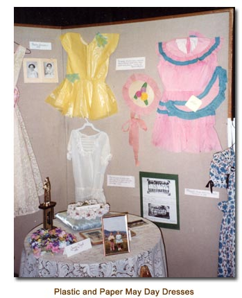 Yellow Plastic and Pink Paper May Day Dresses.