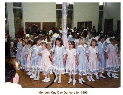 Mendon May Day Dancers for 1995.