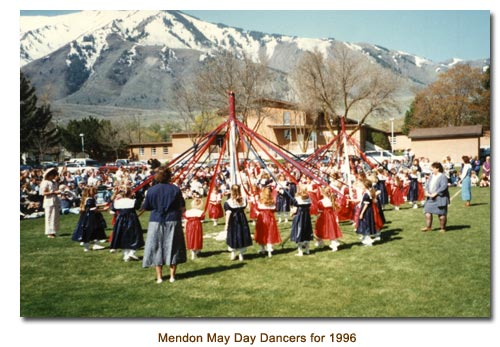 Mendon May Day Dancers for 1996.