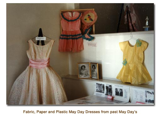 Fabric, Paper and Plastic may Day Dresses from Mendon's May Day Past.