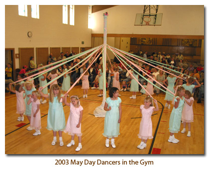 2003 May Day Dancers indoors