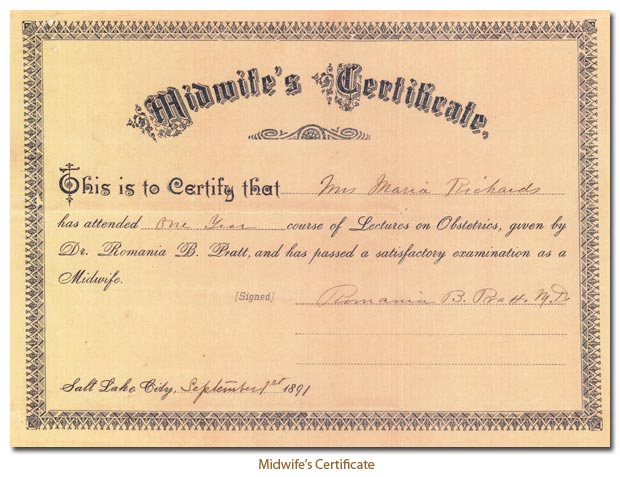 Midwife's Certificate