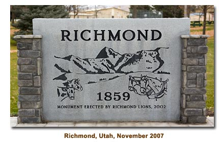 Richmod, Utah Sign