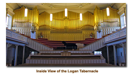 Inside view of the Logan Tabernacle